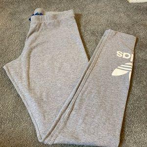 Women's Adidas Trefoil Leggings in Gray